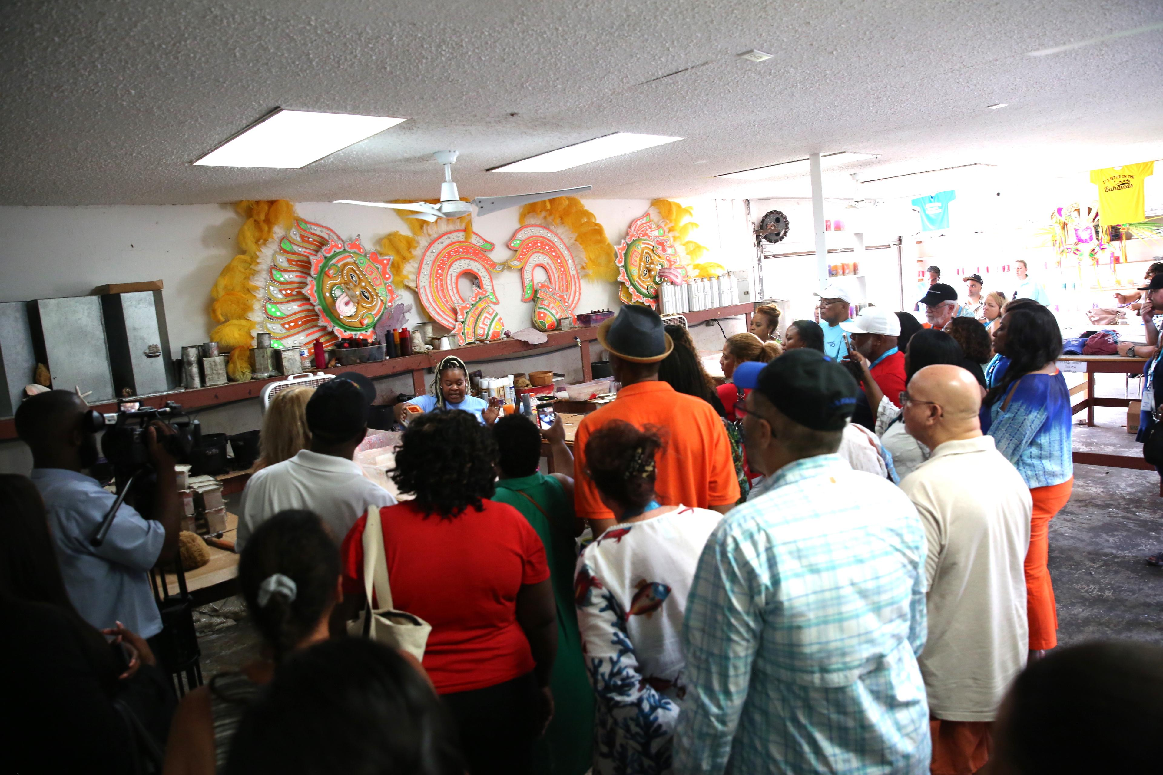 Travel agents tour the Candle Factory in Freeport