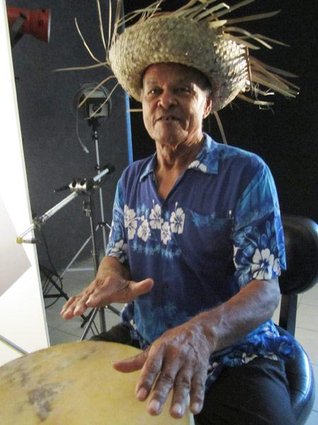 Chippie Playing the Drums