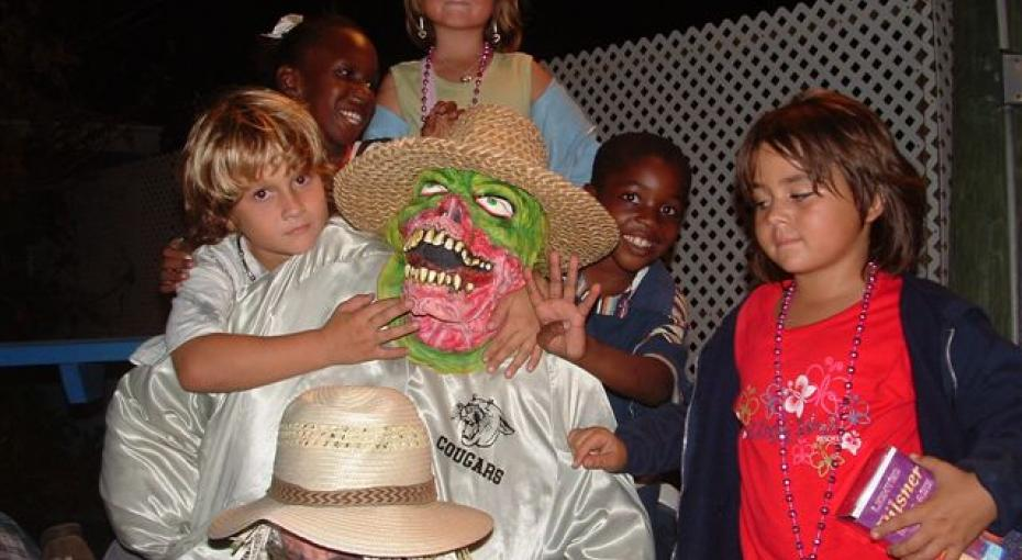 Children at the Guy Fawkes Celebration (Photo by Annabelle Cross)