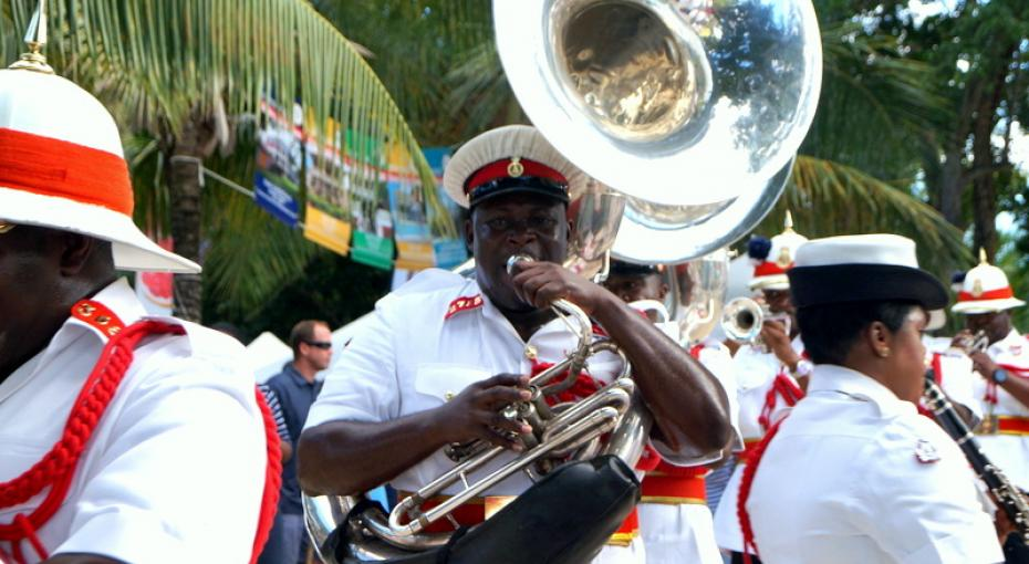 The Royal Bahamas Police Force Band performing at the Tru Tru Bahamian Festival.