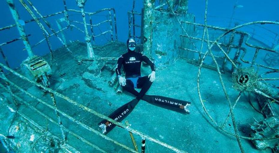 Four Time Freediving World Record Holder Pierre Frolla Recently Filmed An Underwater Tv Ad In The Bahamas He Says Is One Of Best Places