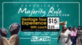 Flyer for Experience Majority Rule Experience at Clifton Heritage National Park